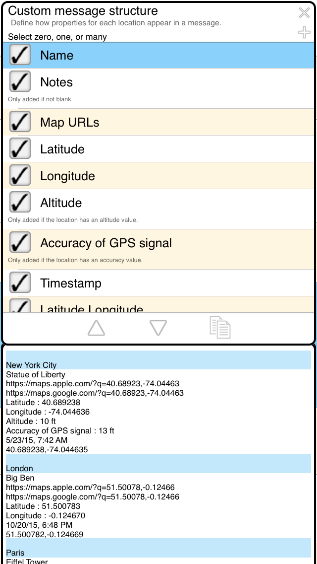 My GPS Coordinates For IOS Custom Message Structure Help Page - Altitude longitude